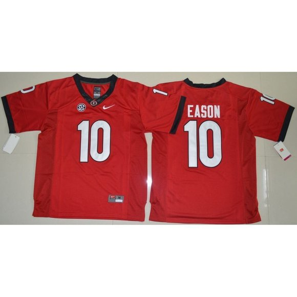 Jacob Eason Georgia Bulldogs Football Jersey - Red
